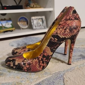 Ted Baker London Exotic Snakeskin Leather Pumps